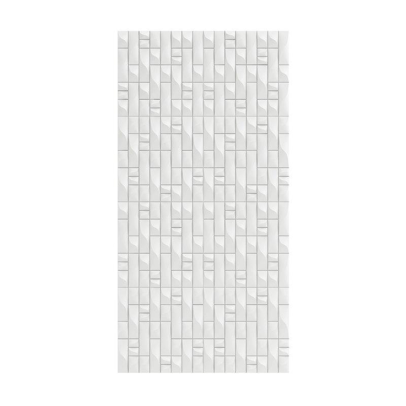 3D white wall panel modelled