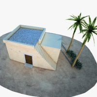 3D middle east house model