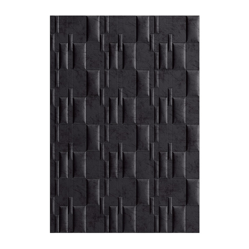 3D black leather wall panel