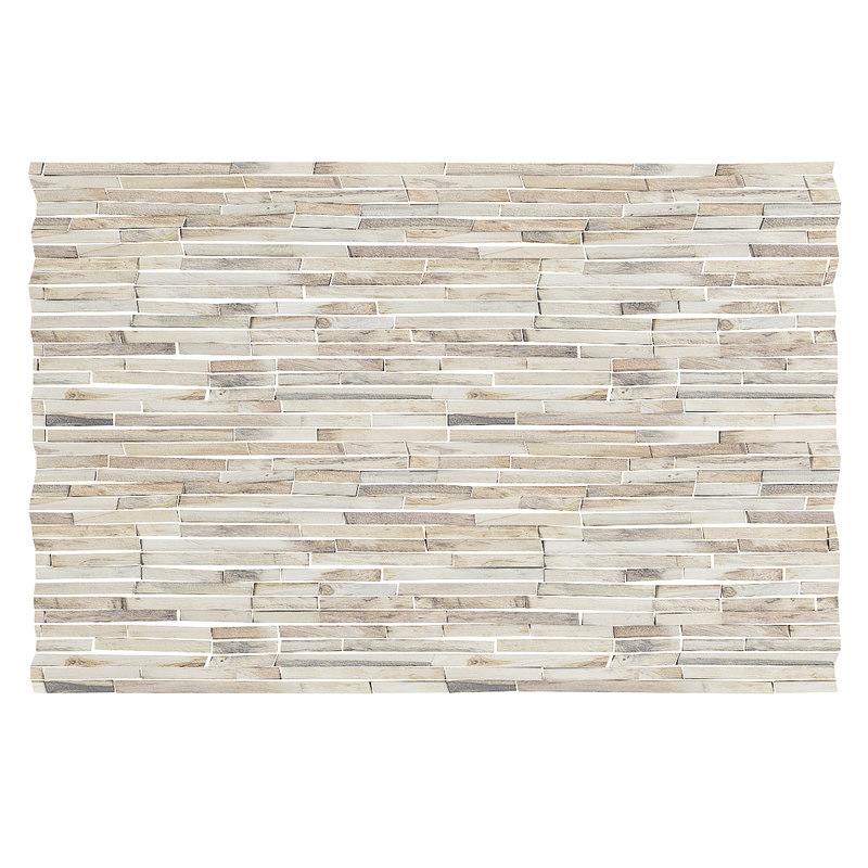 wood fragments wall panel 3D