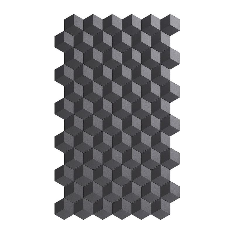 black wall panel modelled model
