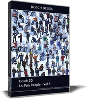 3D lo-poly people vol 5