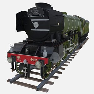locomotive flying scotsman 3D model