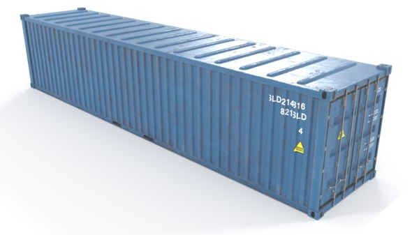 3D container pbr polys model