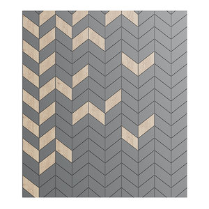 3D modern wood black wall panel model