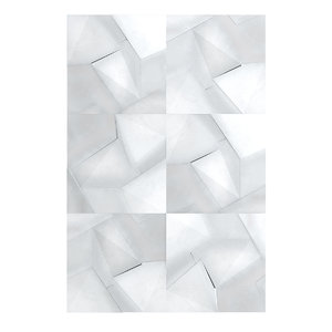 cracked metal wall panel 3D