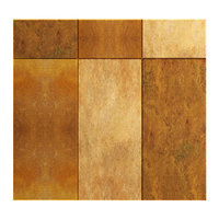3D rusted metal tiles