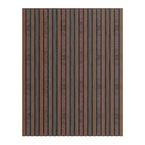 3D dark wood wall panel model