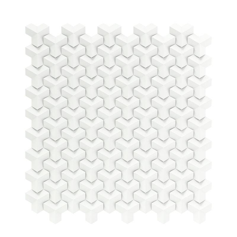 white wall panel modelled 3D model