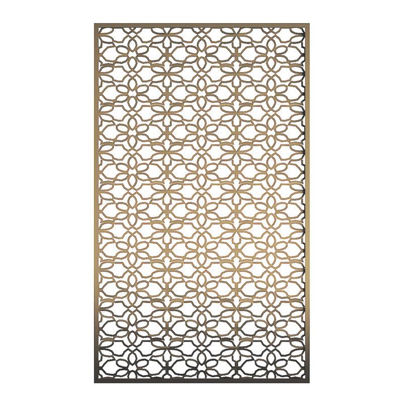 bronze metal wall panel 3D