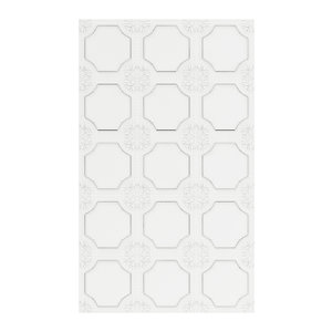 3D classic white wall