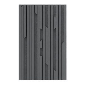 3D black wood wall panel model