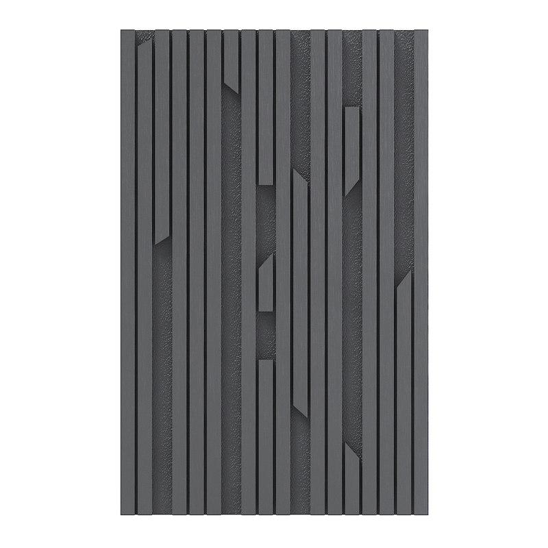 3D black wood wall panel model