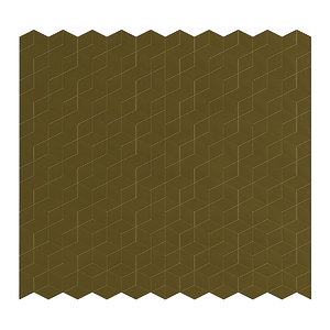 3D golden metal wall