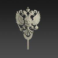 emblem russia 3D model