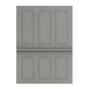 classic dark wall panel 3D model