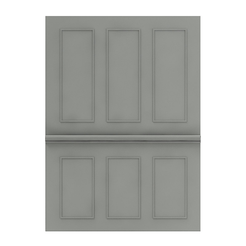 classic dark wall panel 3D model