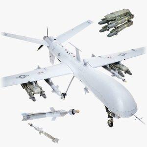 lightwave drone 3D model