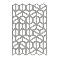 3D concrete hexagonal wall panel