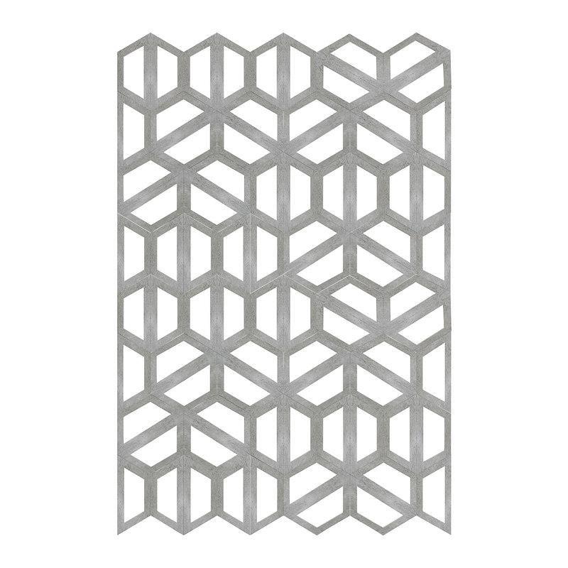 3D concrete hexagonal wall panel