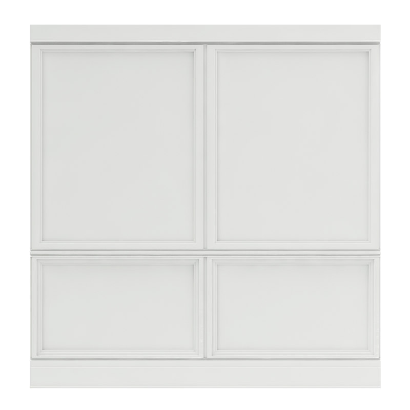 3D classic white wall panel