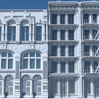 tenement building facade model