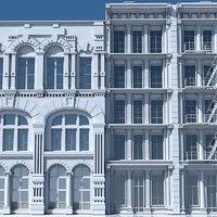 tenement building facade model