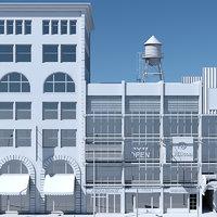 3D tenement building facades model