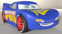 fabulous lightning mcqueen 3D model