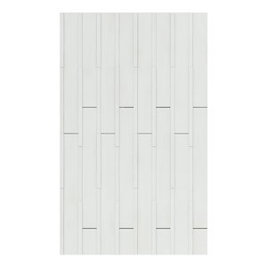 3D white wooden planks modelled model