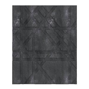 black stone wall panel model