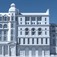 3D tenement building facades model