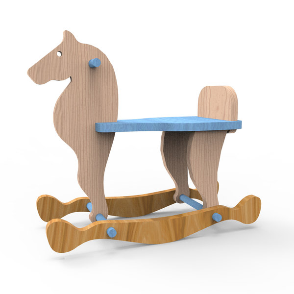 3D horse toy model