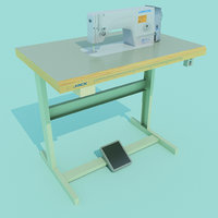 industrial sewing machine 3D