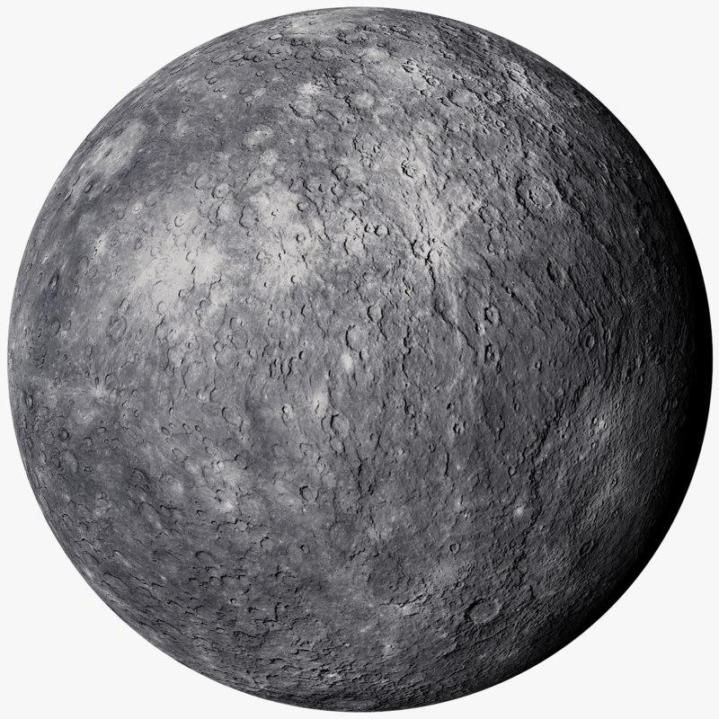 3D realistic mercury photorealistic 1k