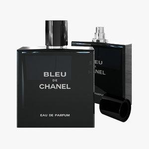 chanel bleu 3D