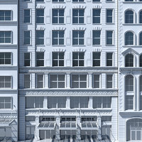 tenement building facades 3D model
