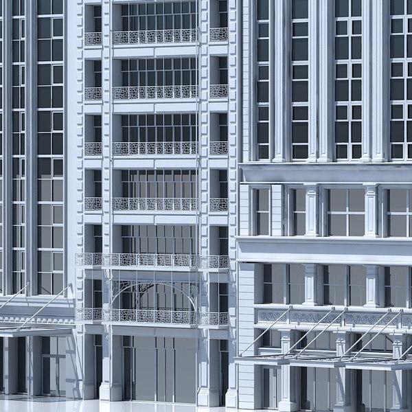 3D tenement building facades