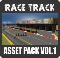 race track asset pack 3D model