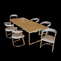 Eichholtz Dining Table Remington and Dining Chair Dexter