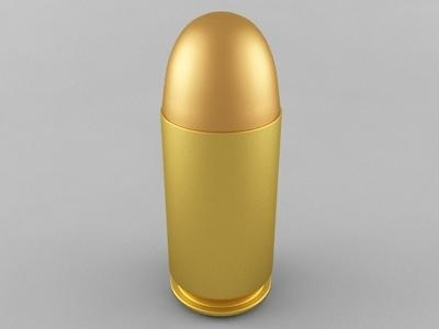 3D model 45 acp cartridge