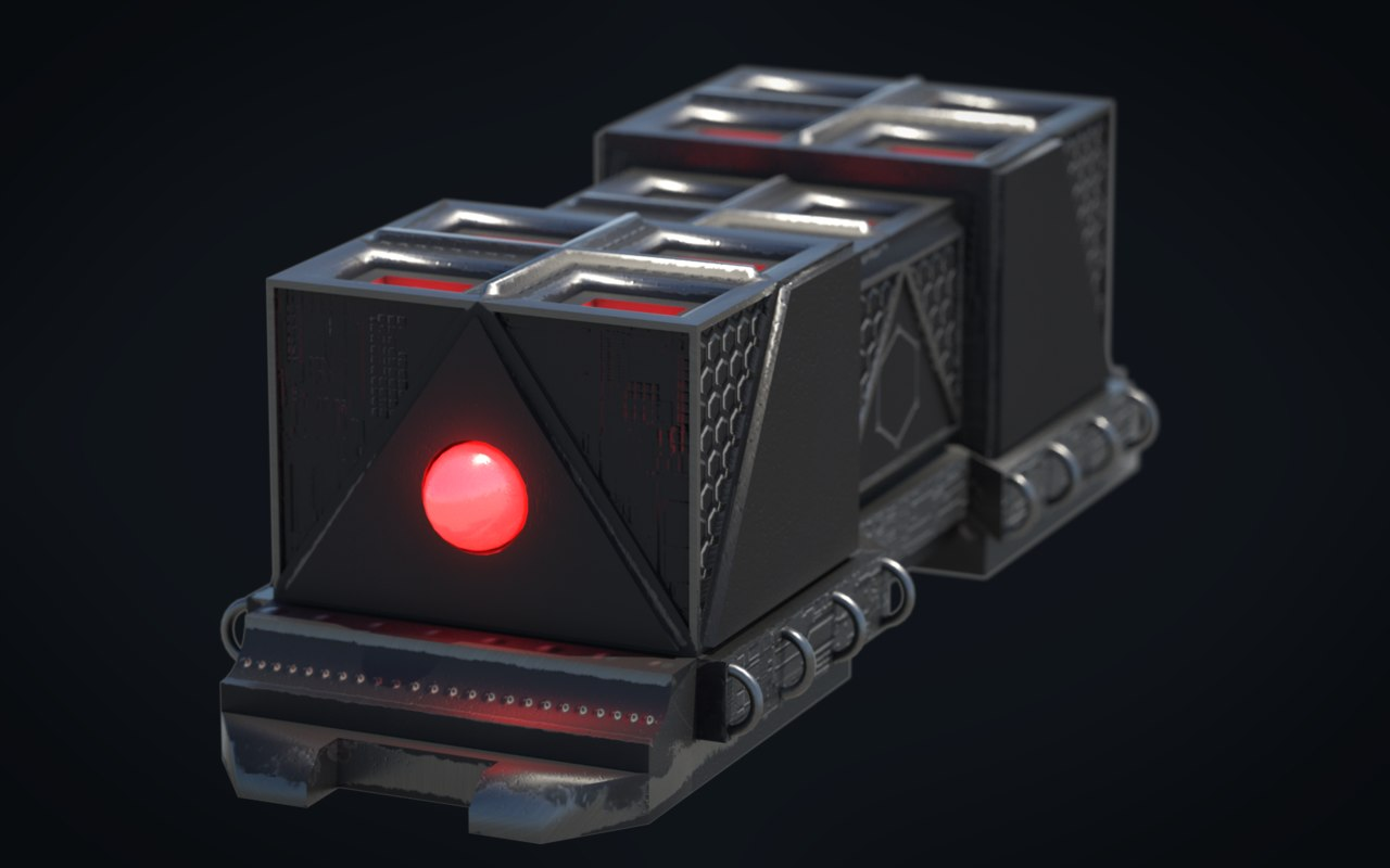 3D scifi crate 2