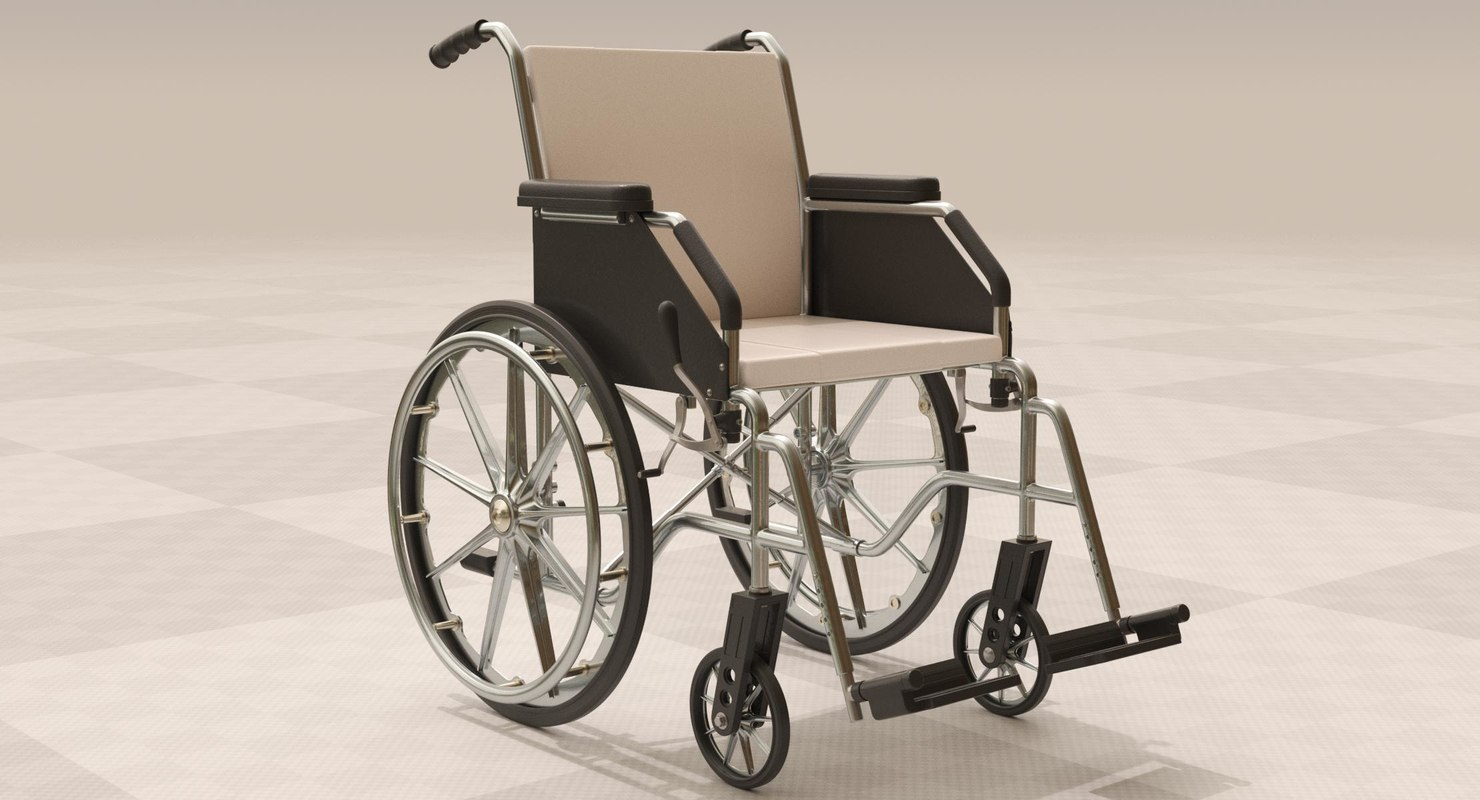 wheelchair invalid disabled 3D