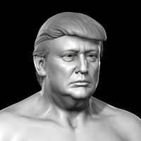 3D donald trump body model