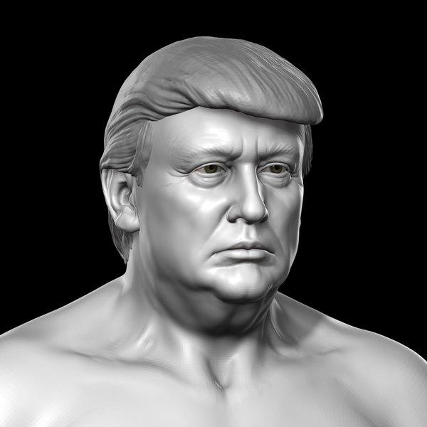 3D donald trump body model