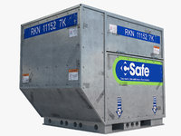 airport cargo container 3D