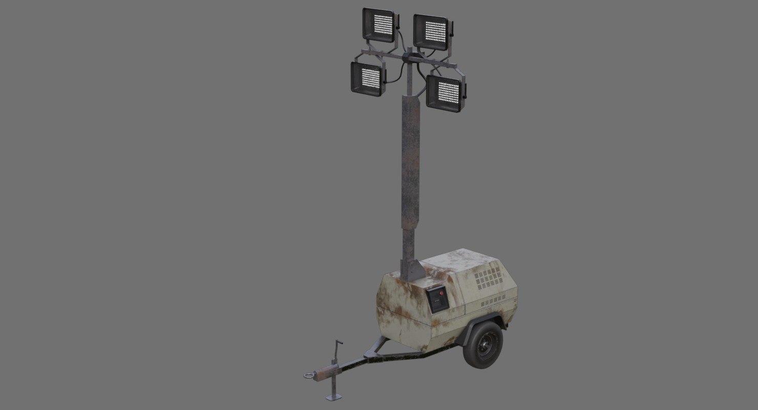light tower 1b 3D model