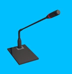 3D model microphone tabletop