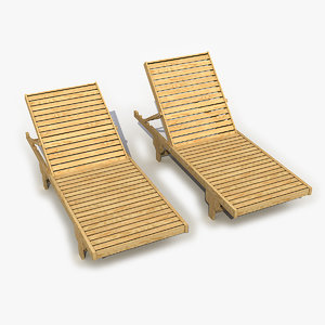 3D chaise lounge