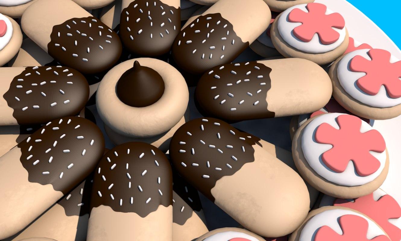 cookie sweet plate model